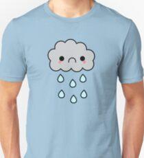 Adorable Kawaii Sad Rainy Storm Cloud Unisex T-Shirt