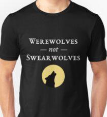 Camiseta ajustada Hombres lobo, no Swearwolves (oscuro)