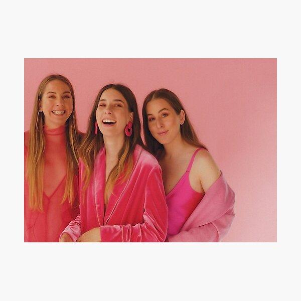 haim - pink photoshoot Photographic Print