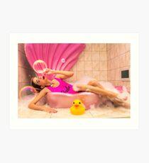 Barbie Bath Art Print