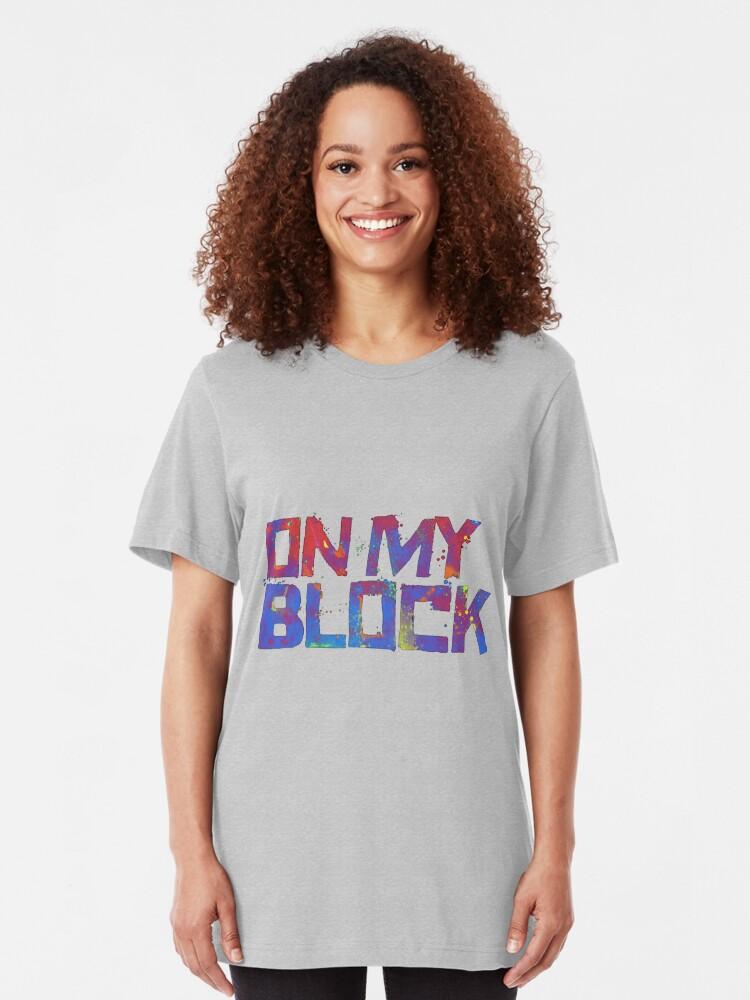 Alternative Ansicht von Auf meinem Block Slim Fit T-Shirt