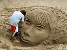 Thames Beach Sand Sculpture by Ludwig Wagner