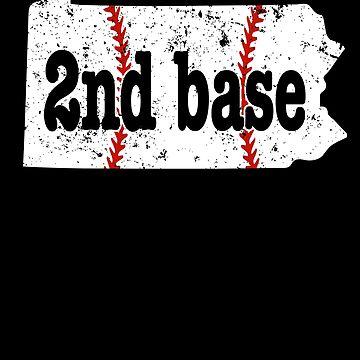 2nd Base Softball Shirt Pennsylvania 2nd Base Baseball by shoppzee