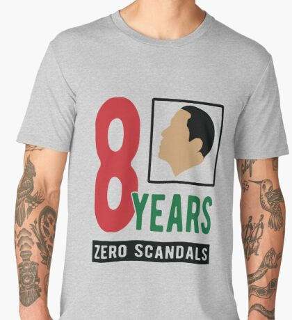 Obama 8 Years Zero Scandals Men's Premium T-Shirt