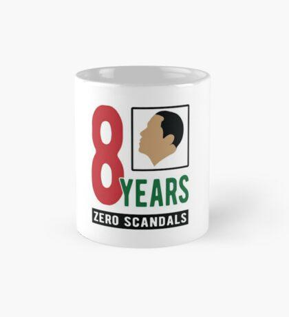 Obama 8 Years Zero Scandals Mug
