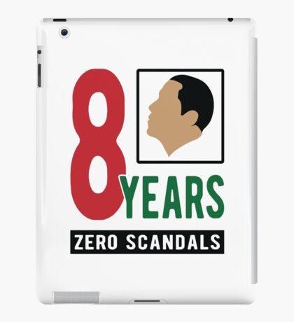 Obama 8 Years Zero Scandals iPad Case/Skin