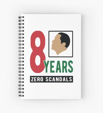 Obama 8 Years Zero Scandals Spiral Notebook