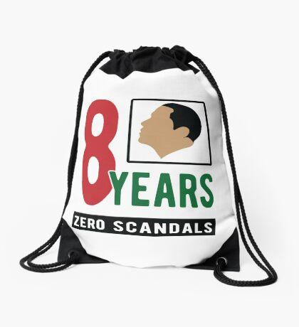 Obama 8 Years Zero Scandals Drawstring Bag