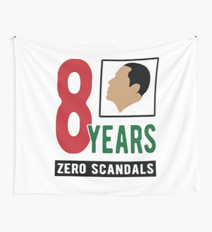 Obama 8 Years Zero Scandals Wall Tapestry