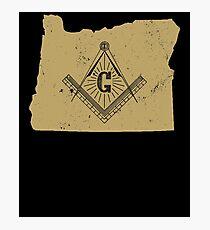 Oregon Freemason Shirt Masonic Ritual Shirt Freemason Gifts Photographic Print