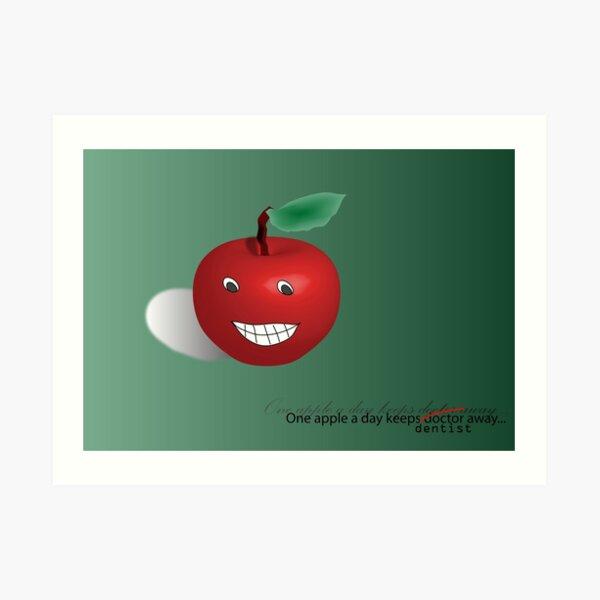 One apple a day Art Print