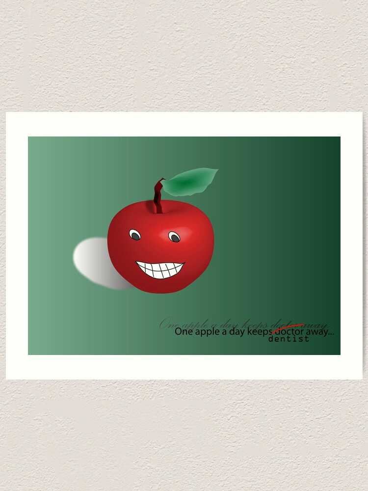Alternate view of One apple a day Art Print