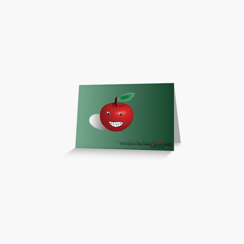 One apple a day Greeting Card