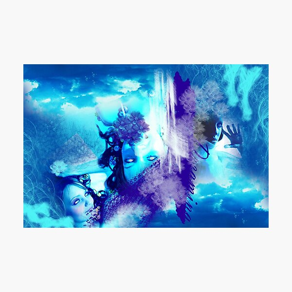Dreaming in Blue Hue Photographic Print