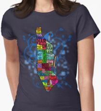 Color Coded Manhattan Womens Fitted T-Shirt