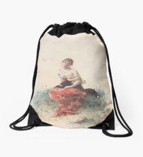 Female Figure Drawstring Bag