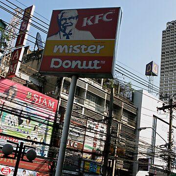 KFC powerlines by Kyra