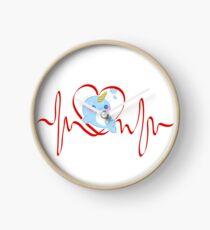 Narwal-Herzschlag - Narwal-Liebhaber - niedliches Narwhal Uhr