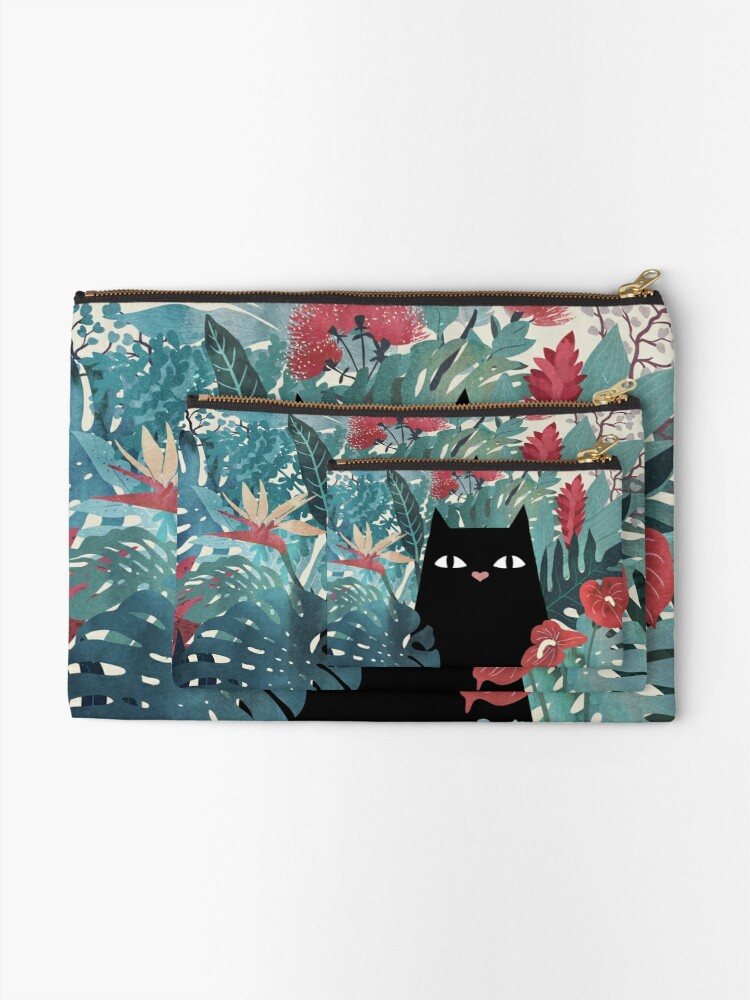 Alternate view of Popoki Zipper Pouch