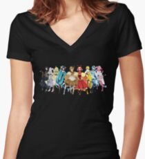 EEVEE EVOLUTIONS Humanization Women's Fitted V-Neck T-Shirt