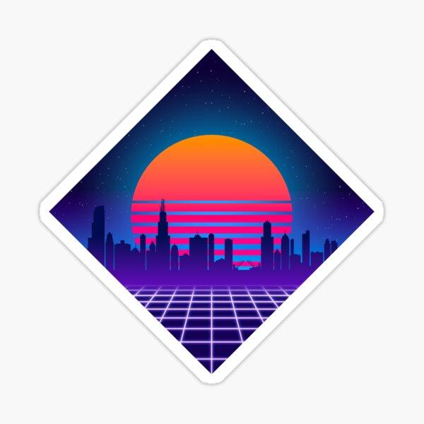 Outrun Chicago Sticker