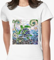 Turtle Mosaic Women's Fitted T-Shirt