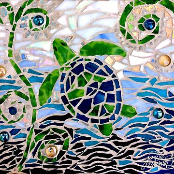 Turtle Mosaic by janmarvin