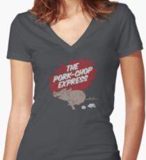 The Pork-chop Express Women's Fitted V-Neck T-Shirt