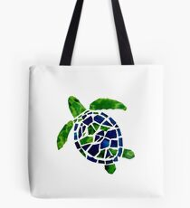Turtle Mosaic Cutout Tote Bag