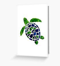 Turtle Mosaic Cutout Greeting Card
