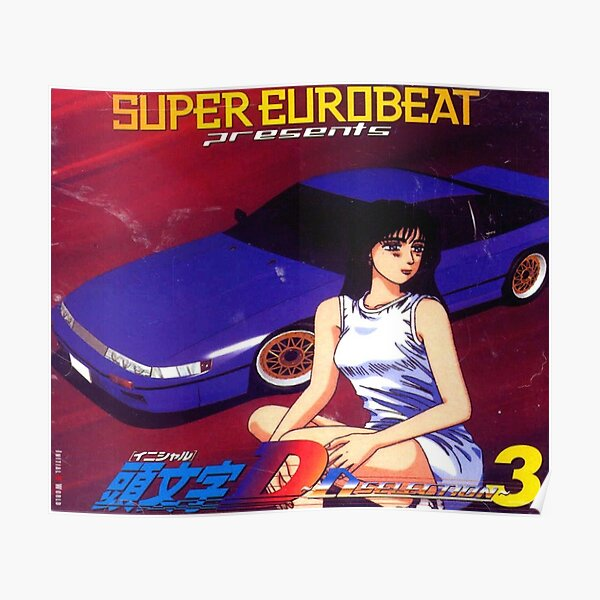 Initial D Mako Super Eurobeat Anime Poster