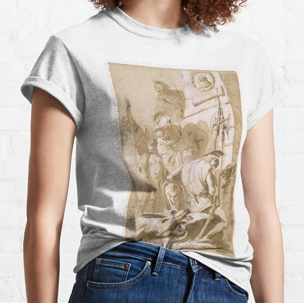 Soldiers Around a Monument Classic T-Shirt