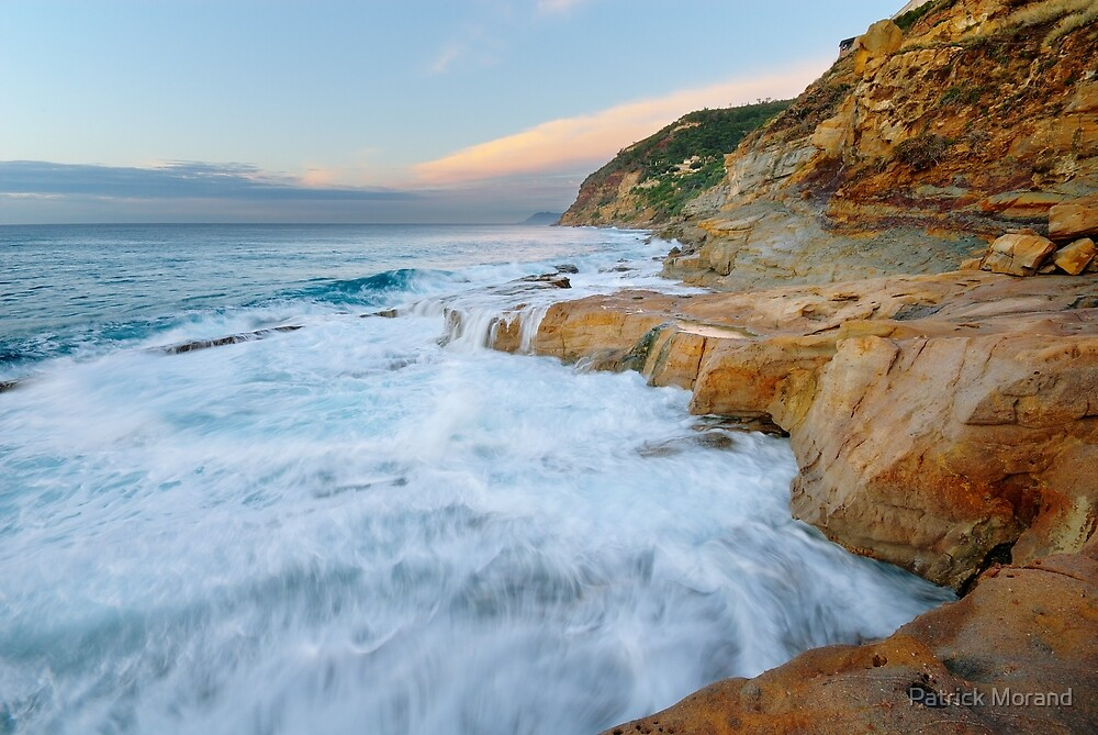 Waves on the beach by Patrick Morand