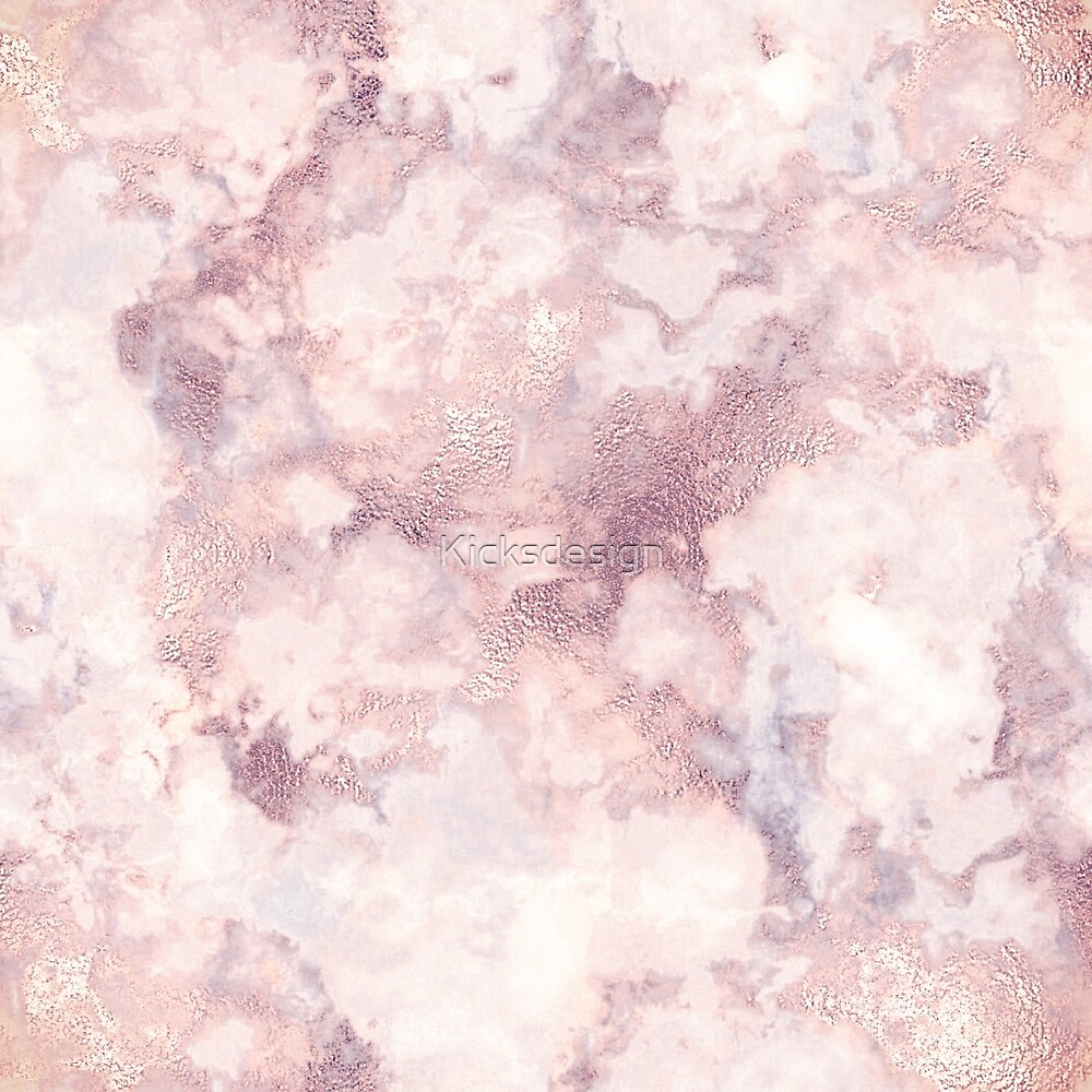 """""""Elegant rose faux gold pink gray luxury marble pattern"""" by Kicksdesign 