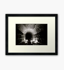 The Relationship Between Light And Dark Framed Print