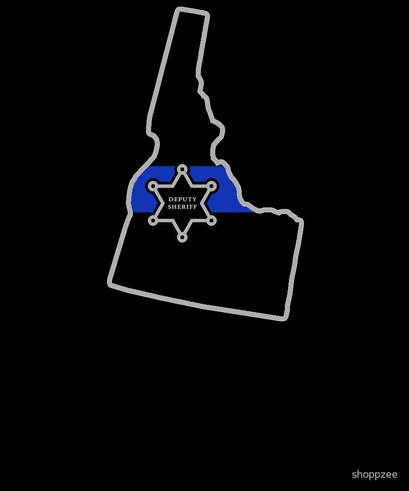 Idaho Deputy Sheriff T Shirt Thin Blue Line by shoppzee