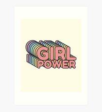 GRL PWR - Girl Power cool Vintage distressed Typografie Design 70er Jahre 80er Jahre niedlich Retro-Stil T-Shirts Kunstdruck
