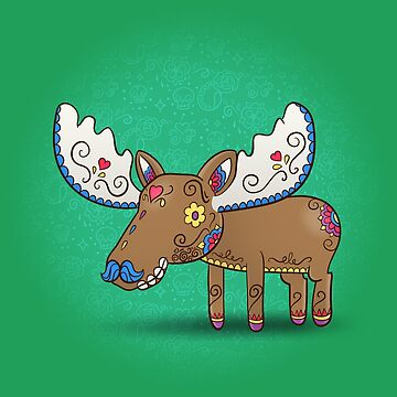 Moose - Animals | Day of the Dead Mashup by abowersock