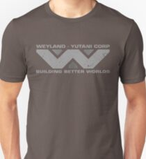 BUILDING BETTER WORLDS - Weyland Corp Unisex T-Shirt