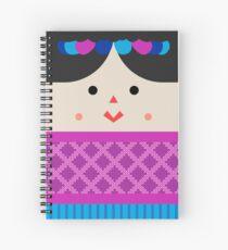 Cuaderno de espiral Muñeca de Trapo (Mexican Cloth Doll) Square Friends (Pink and Blue)