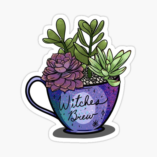 Witches Brew Succulents Sticker