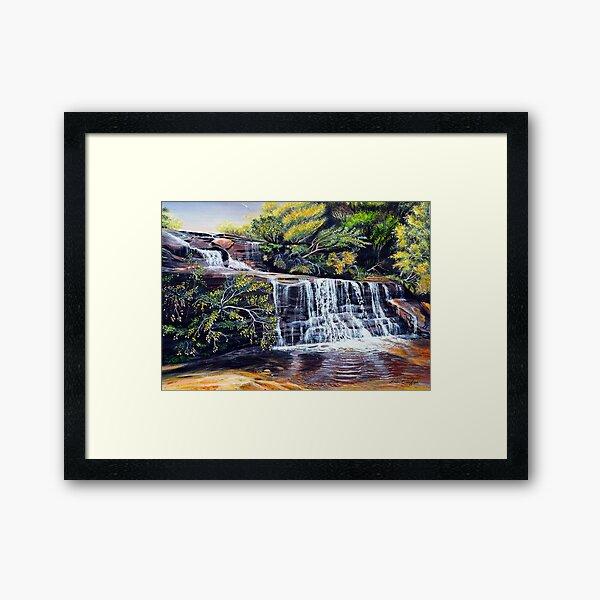 The Cascades, Blue Mountains Framed Art Print