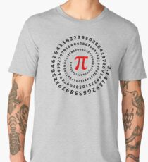 Pi, π, spiral, Science, Mathematics, Math, Irrational Number, Sequence Men's Premium T-Shirt