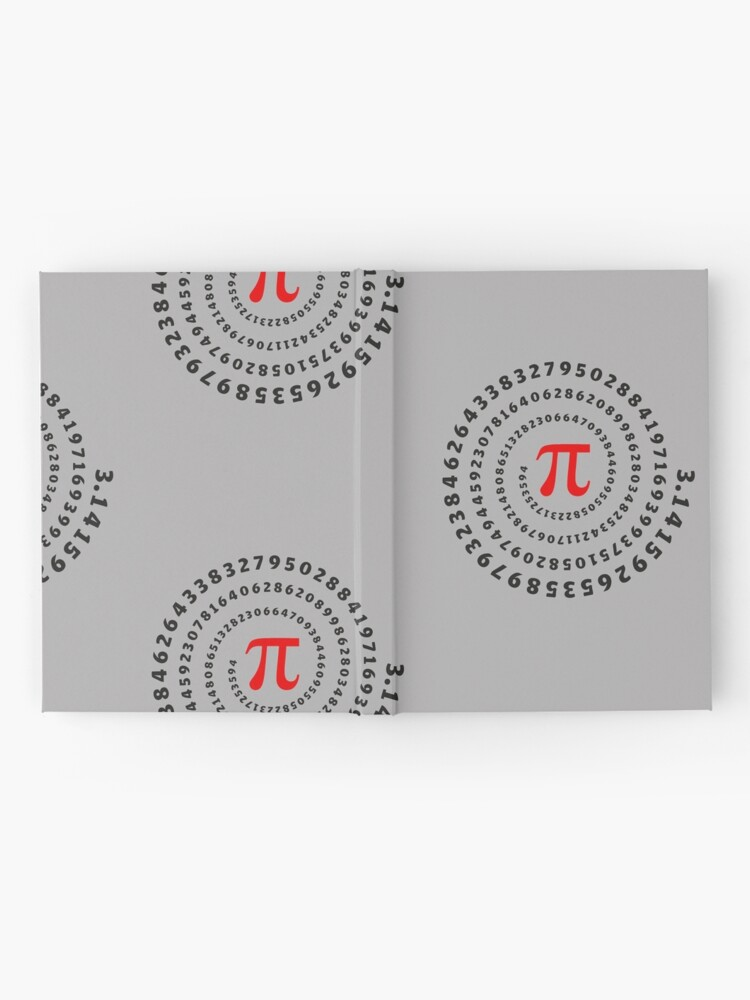 Alternate view of Pi, π, spiral, Science, Mathematics, Math, Irrational Number, Sequence Hardcover Journal