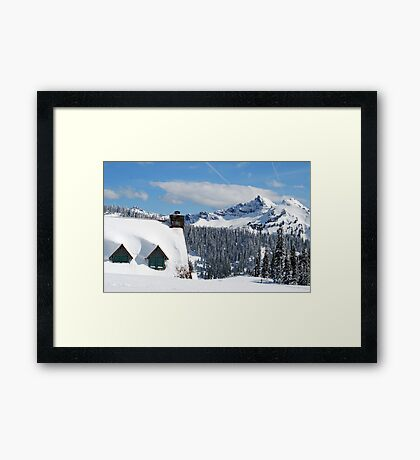The Lodge at Paradise Framed Print