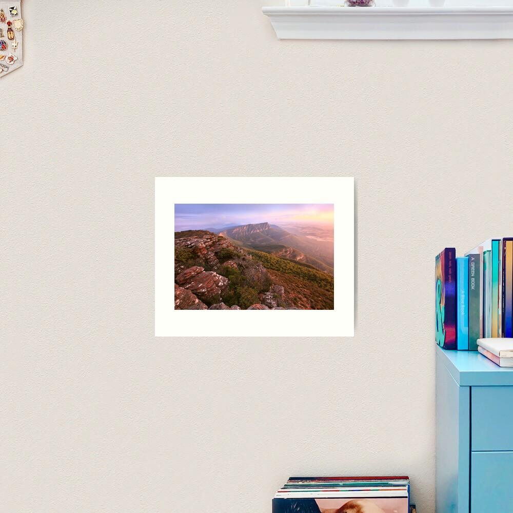 Redmans Bluff from Mt William, Grampians, Australia Art Print