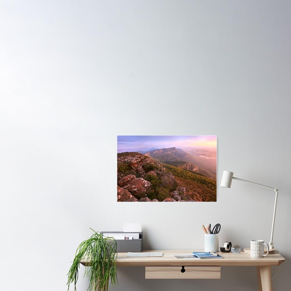 Redmans Bluff from Mt William, Grampians, Australia Poster