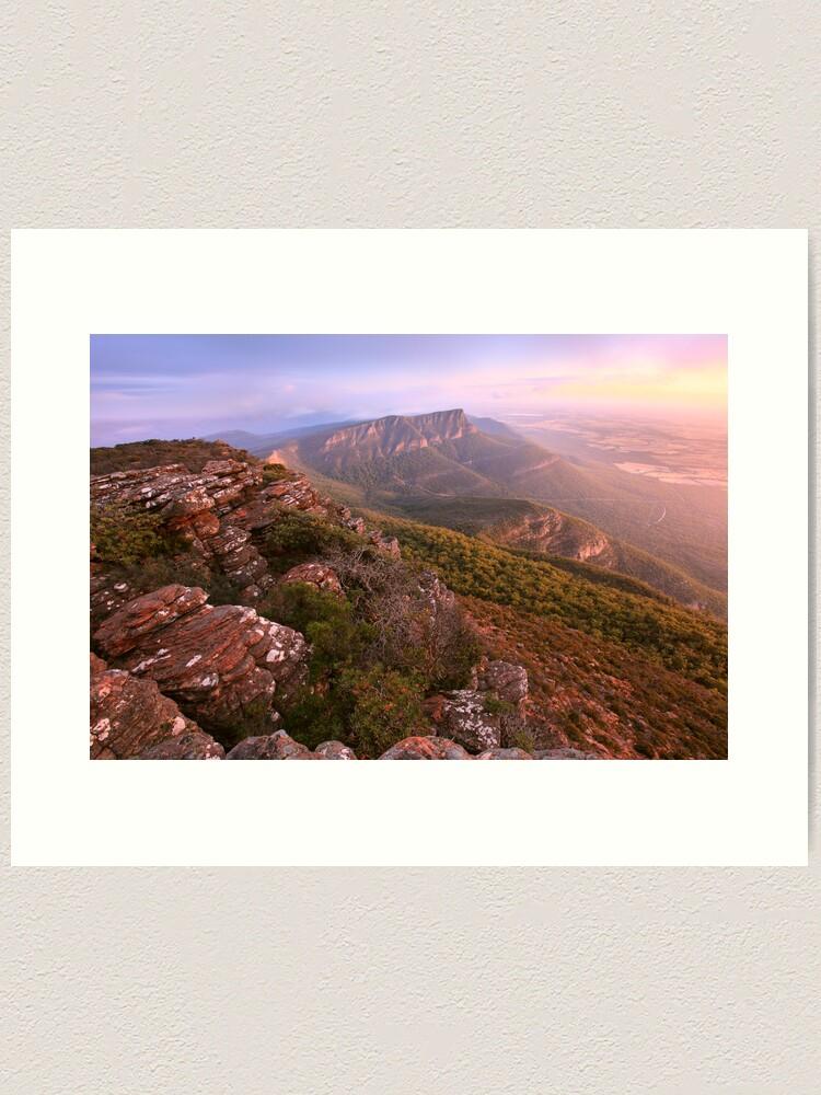Alternate view of Redmans Bluff from Mt William, Grampians, Australia Art Print