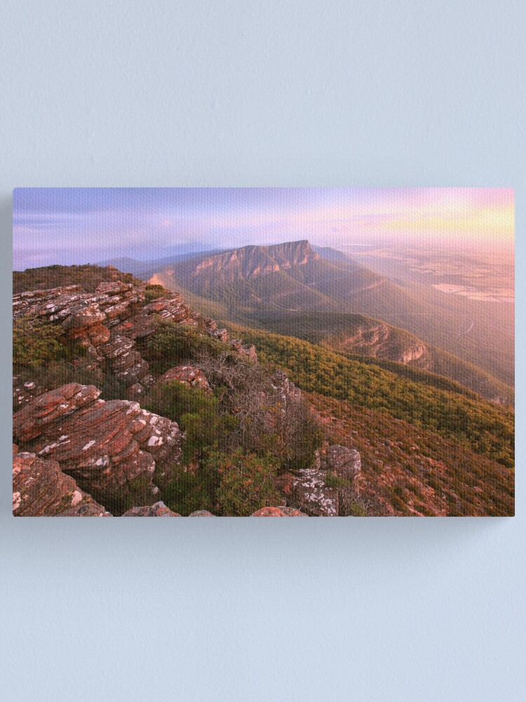Alternate view of Redmans Bluff from Mt William, Grampians, Australia Canvas Print