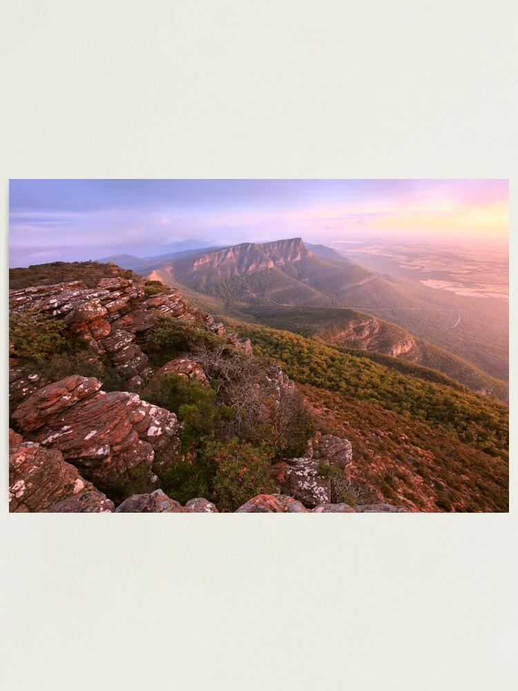 Alternate view of Redmans Bluff from Mt William, Grampians, Australia Photographic Print